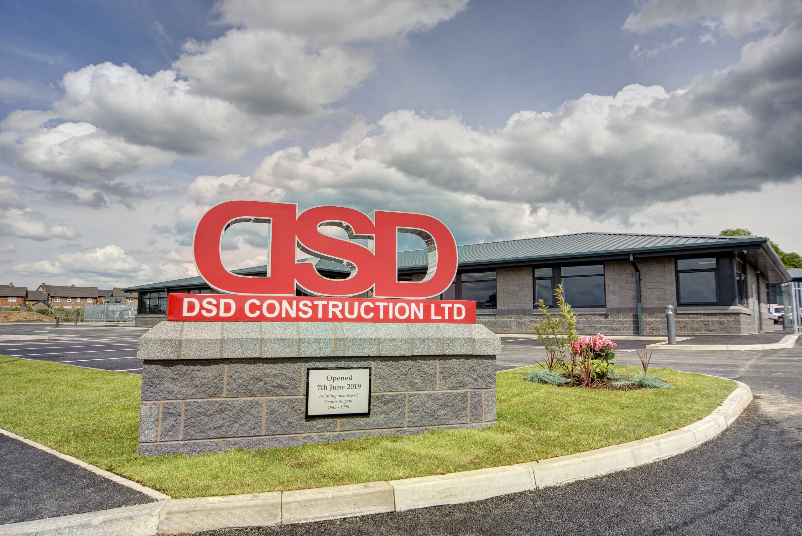 Large DSD sign in front of building